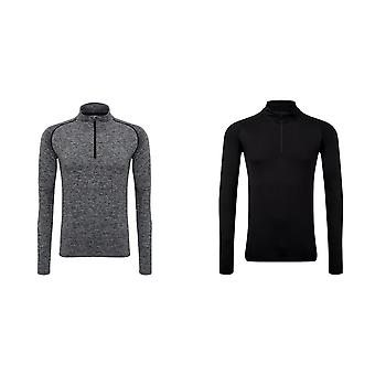 TriDri Mens Seamless 3D Fit Multi Sport Performance Zip Top
