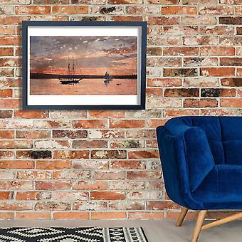 Winslow Homer - Sunset at Gloucester Poster Print Giclee