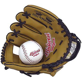 Midwest Junior Kids Baseball Catchers Pitchers Glove & Ball Set