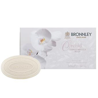 Bronnley Parfumé savon fait à la main - Orchid Triple Milled Soap - dans Gift Box 3x100g