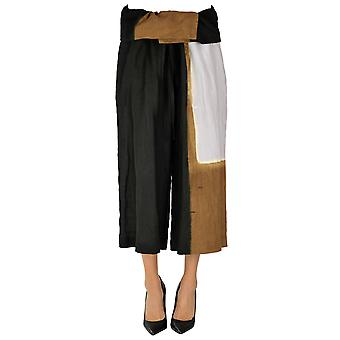 Yohji Yamamoto Ezgl123010 Women's Multicolor Linen Pants