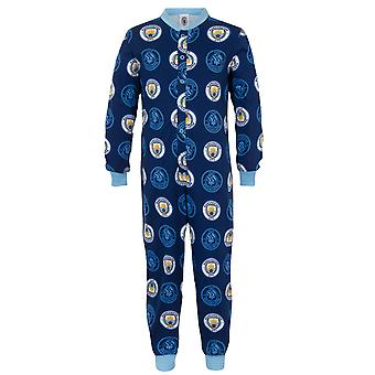 Manchester City FC Officiel Football Gift Boys Kids Pyjama All-In-One