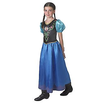 Frozen Girls Classic Anna Deluxe Fancy Dress Costume