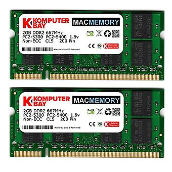 4GB (2x 2GB) 667MHz SODIMM Memory for Apple
