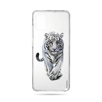 Runko Samsung Galaxy A71 Pehmeä valkoinen Tiikeri
