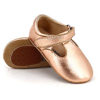 SKEANIE nahka T-Bar kengät ruusu kulta
