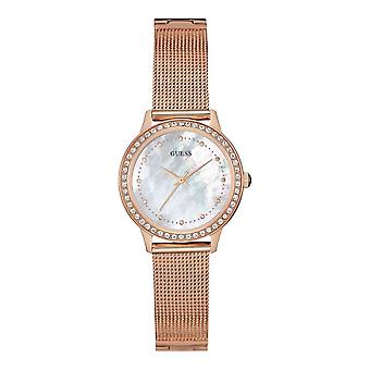 Guess Watches Guess Ladies Rose Gold Mesh Bracelet Watch W0647L2
