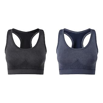 TriDri Womens/Ladies Seamless 3D Fit Multi-Sport Denim Look Sports Bra