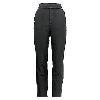 Martha Stewart Femmes-apos;s Jeans Metallic Tuxedo Stripe Jeans Black A345122