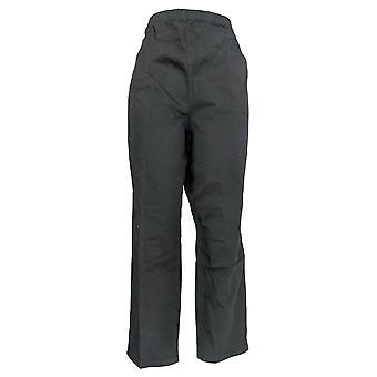 Mujeres's Petite Original Waist Stretch Pantalones Negros A43881