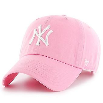 47 Brand Relaxed Fit Cap - CLEAN UP New York Yankees rose