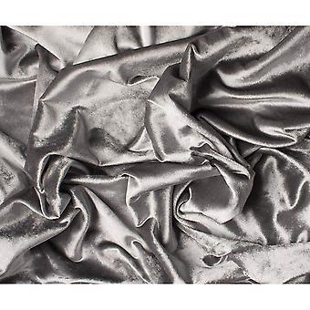 McAlister têxteis brilhantes prata esmagado cortinas de veludo