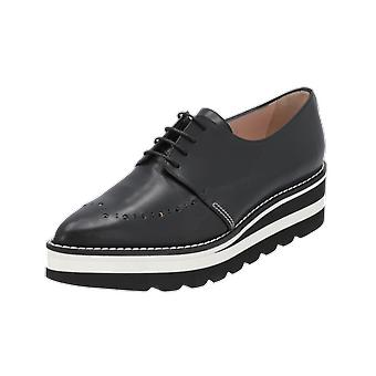 Alberto Zago Alley Women's Lace-up Shoes Black Business Shoes Loafer Slipper