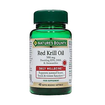 Nature's Bounty Red Krill Oil 500 mg 40 (N34627)