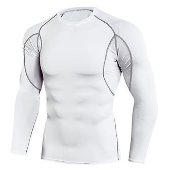 Allthemen Men's Round Neck Color Matching Stretch Sport Tops