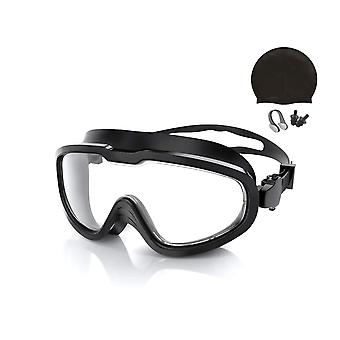Swimming goggles with accessories - Adult - Black