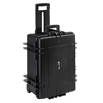 B&W Outdoor Case Typ 6800 2 Rollen, Leer, Schwarz