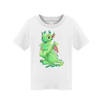 Cute Green Dragon Little Wings Tee Peuter's -Image door Shutterstock