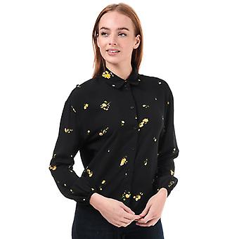 Women's Only Alisa Life Floral Shirt in Black