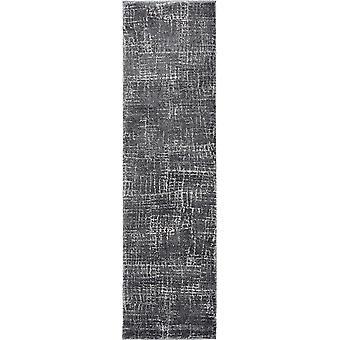 5'x8' Grey Machine Woven Abstract Scratch Indoor Area Rug