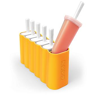 Zoku Ice lolly mold - Classic Inline Set of 6 Ice Pop moulds with drip guards