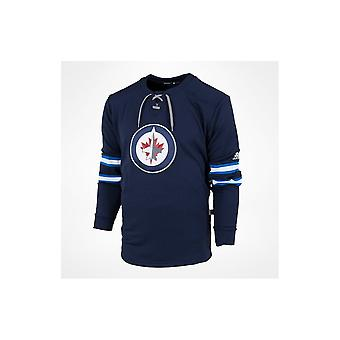 Adidas Nhl Winnipeg Jets Platinum Ls Jersey Tee