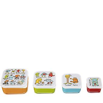 Tyrrell Katz Monsters 4pc Square Snack Boxes