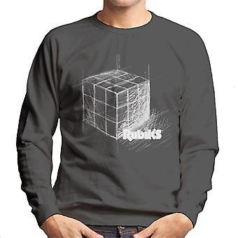 Rubik's getekende kubus mannen Sweatshirt