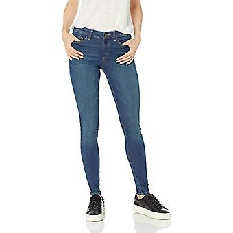 Marca - Daily Ritual Women's Mid-Rise Skinny Jean, Mid-Blue, 28 (6) Long