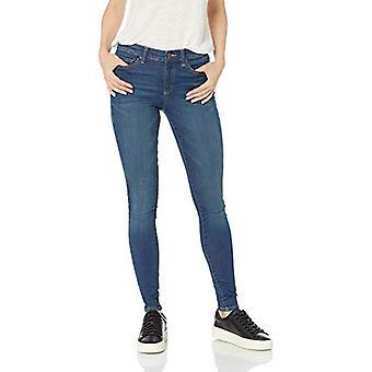 Brand - Daily Ritual Kvinnor & apos, mid-rise Skinny Jean, Mid-Blue, 28 (6) Lång