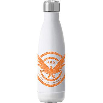 Tom Clancy Distressed Orange Logo Extrema Remedia Insulated Stainless Steel Water Bottle