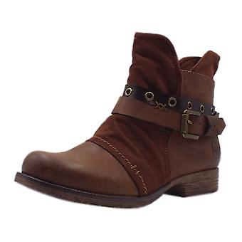 Rieker 90268-22 Phoebe Fashion Ankle Boots In Brown