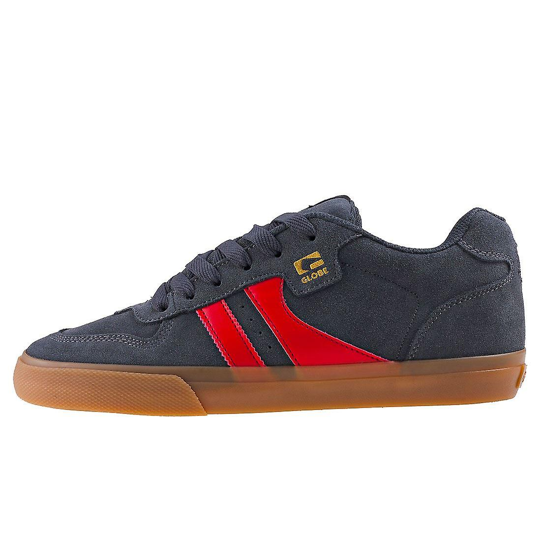 Globe Encore 2 Mens Skate Trainers in Charcoal Red