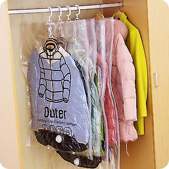 Dust Cover Organizer For Blanket, Clothes, And Quilt - Vacuum Storage Hanging