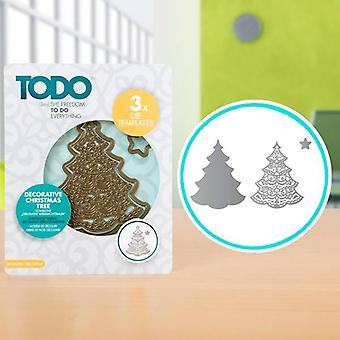 TODO Die Template Set Decorative Christmas Tree