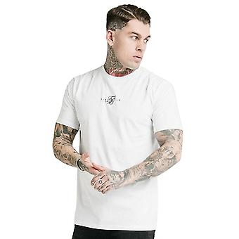 Sik Silk Ss-17267 Square Hem Standard Centre Logo Camiseta - Blanco