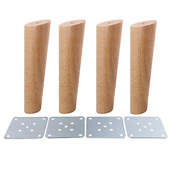 4pcs Wood Furniture Foot Leg Feet 20cm