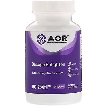 Advanced Orthomolecular Research AOR, Bacopa Enlighten, 60 Capsules végétariennes