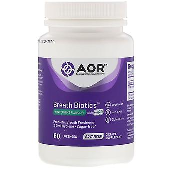 Advanced Orthomolecular Research AOR, Breath Biotics, Wintermint Flavor with Bli
