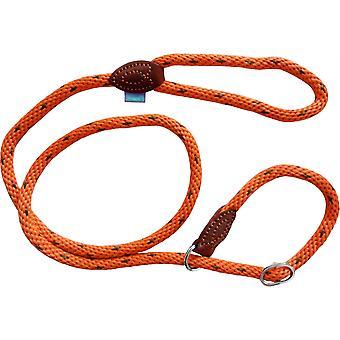 Dog & Co Supersoft Rope Slip Lood - Oranje - 14mm x 48 inch