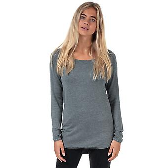 Women's Only Mila Lacy Longline Jumper in Grey