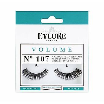Eylure Volume Handmade False Black Eyelashes - 107 - Lash Glue is Included