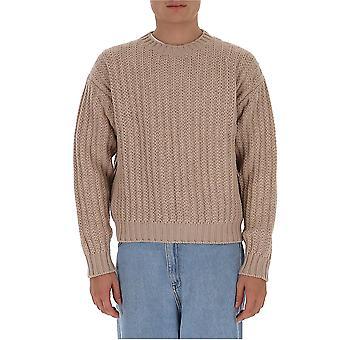Salvatore Ferragamo 129689739295 Men's Beige Wool Sweater