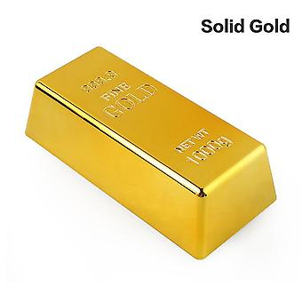 Falska Gold Bar Paperweight Home Decor Bullion- Simulering Dekoration Hantverk Creative Guld Brick Leksak Shop