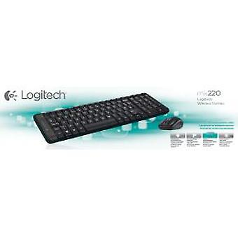 Logitech MK220 Mini Keyboard/Mouse desktop Combi set [RF Wireless/ Optical, Scroll, Black]