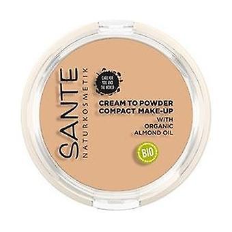 Compacte poedercrème make-up 01 Cool Ivory 9 g (Vanille)