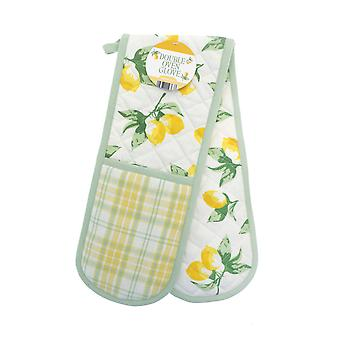 Country Club Lemons Double Oven Glove