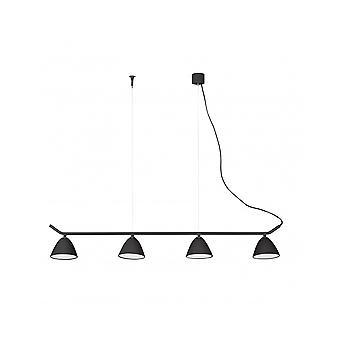 Flash Led Black Pendant Lamp 4l
