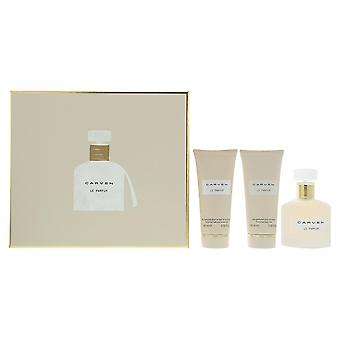 Carven Le Parfum - Eau de Parfum 100ml, Shower Gel 100ml & Body Milk 100ml Set