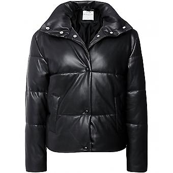 Rino and Pelle Azizi Faux Leather Puffer Jacket